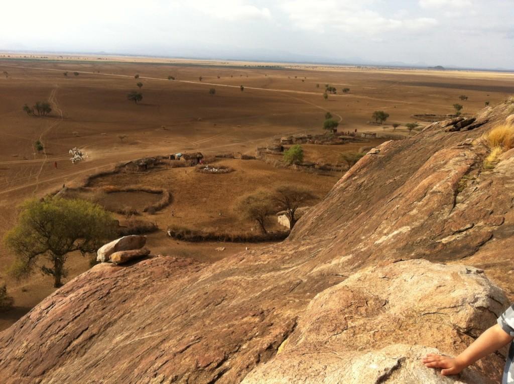 The home of an extended Maasai family below Ngararambuni, near Amboseli National Park.