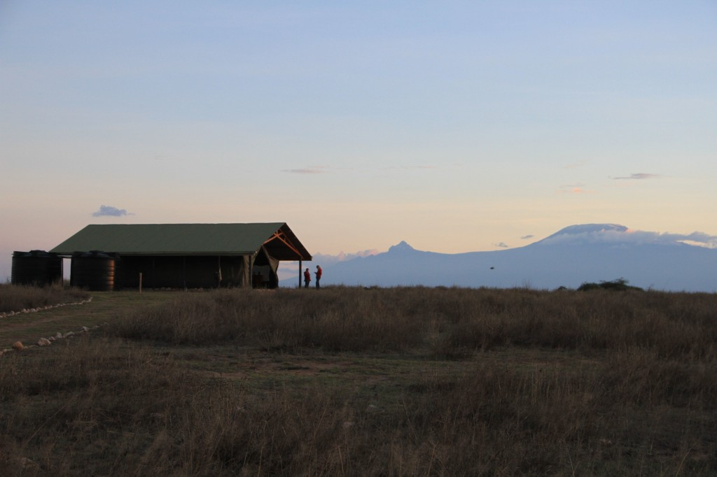 The Lion Guardians HQ and Mount Kilimanjaro.